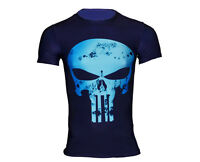Men's CODY LUNDiN Marvel Superhero 3D Punisher Skull tshirt Sport Top UK size