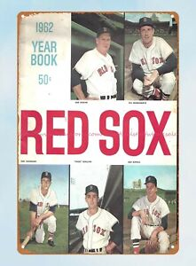 1962 Boston Red Sox Yearbook baseball tin sign beautiful room decoration