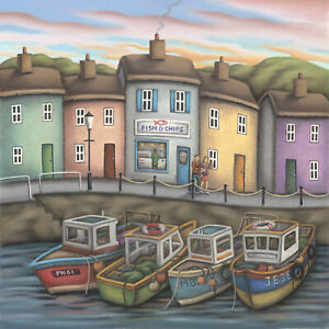 Fish & Chips ( Framed ) by Paul Horton Limited Edition Print
