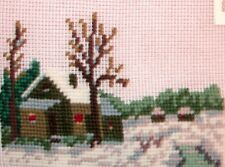 EP 2617/4 Small Winter Cabin Preworked Needlepoint Canvas