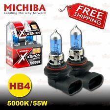 HB4 9006 MICHIBA 12V 55W 5000K Super WHITE Halogen HeadLight Bulbs for LOW BEAM