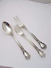 Sterling Silver Chantilly 3 Piece Flatware Dining Silverware Set Gorham
