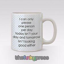I Kann Nur Please Einmann Ein Tag Teetasse Kaffee-haferl Lustiges Motto Fleckig