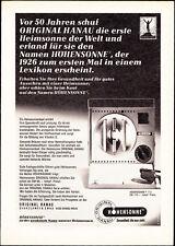 3w2577/ Alte Reklame von 1968 - Original Hanau Höhensonne - Quarzlampen GmbH