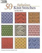 Knitting: 50 Fabulous Knit Stitches by Rita Weiss (Paperback) NEW Book