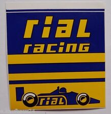 Aufkleber RIAL RACING F1 Ford Cosworth 80er Jahre Decal Sticker Formula 1