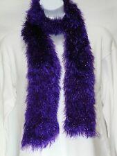 Hand Knit Scarf, Fun Fur