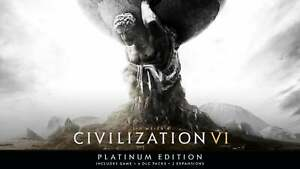Sid Meier's Civilization VI Platinum Edition Region Free Global Steam Key Fast