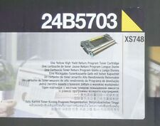 original Lexmark 24b5703 tóner amarillo amarillo para XS748 NUEVO B