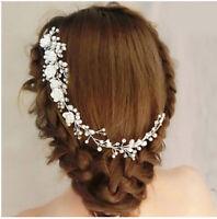 Silver Bridal Wedding Hair Accessories Clipin-Pin Long Hair jewellery Bridesmaid