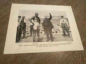 Johnson Jeffries Fight 1910 James Pepper Advertising Premium Paper  AS FOUND 2