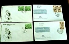 Four India FDC 'Personalities' Stamps Series 1965/67 - Poona Postmarks
