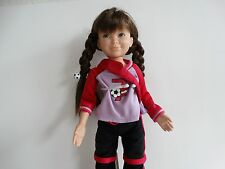 """Retired American Girl Hopscotch Hill 16"""" Gwen Doll in Soccer outfit"""