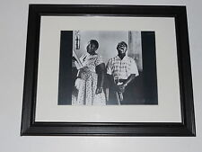 """Framed Ella Fitzgerald & Louis Armstrong 1956 in Studio Print Poster 14"""" by 17"""""""