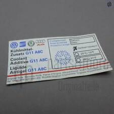 Original VW SEAT SKODA Audi Aufkleber Kühlmittel  Service G11 8x4cm