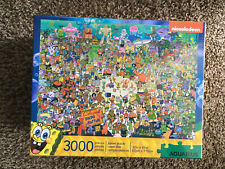 Aquarius Jigsaw Puzzle Deluxe 3000 Pc Puzzle Nickelodeon Spongebob Squarepants