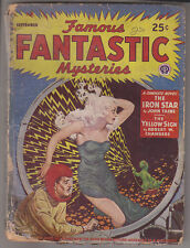 C1 FAMOUS FANTASTIC MYSTERIES 09 1943 SF Pulp FINLAY C L Moore HANNES BOK Taine