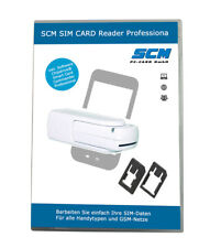 SCM SIM Card Reader Professional - SIM Card Stick weiß plus Software GSM