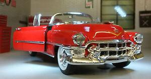 G LGB 1:24 Maßstab 1953 Cadillac Eldorado Verziert Welly Druckguss Modell Haube