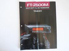 Yaesu FT-2500M (solo BROCHURE ORIGINALE)... RADIO _ Trader _ Irlanda.