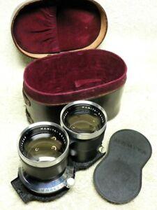 Mamiya Sekor 135mm f/4.5 Lens for C22 C33 C220 C330 TLR w/ CASE & Caps. BEAUTY