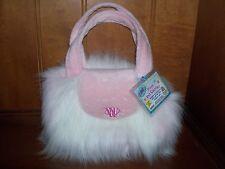 WEBKINZ~Rare~NEW~PINK POWDER PUFF plush PET CARRIER purse~SEALED Code Tag~
