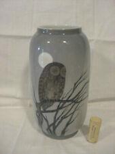 Royal Copenhagen Owl Porcelain Vase Denmark Vintage Beautiful Moon Branch
