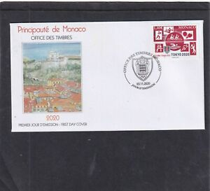 Monaco 2020 Olympic Games Tokyo First Day Cover  FDC