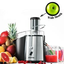 Gourmia GJ750 Wide Mouth Fruit & Vegetable Juicer & Extractor - Stainless Steel
