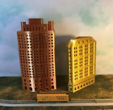 GOLD Metallic OFFICE SKYSCRAPER Building  N Scale 1:160 Add Floors to Customize!