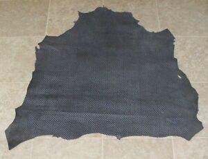 (MGA8427) Hide of Blue Grey Printed Lambskin Finished Back Leather Hide Skin