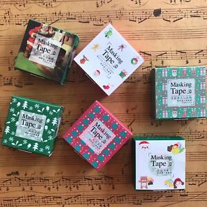 6 x Xmas Washi Paper Tape Masking DIY Christmas Sticker Roll Adhesive Gift idea