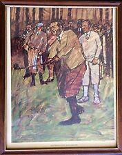 Amazing Sports Art Golf Lithograph Print Gene Sarazen Artist Bill Brauer Uspga