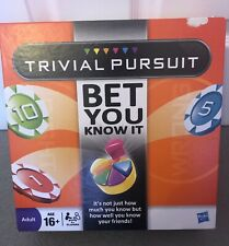 "Hasbro TRIVIAL PURSUIT ""BET YOU KNOW IT"" Complete In Box"