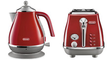 Delonghi CTOC2003R KBOC2001R Icona Capitals 2 Slice Toaster + Kettle PACK - Red
