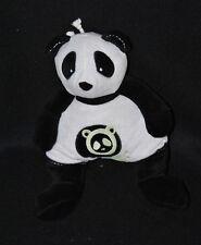 Peluche doudou panda musical OBAIBI OKAIDI noir blanc vert 28 cm NEUF
