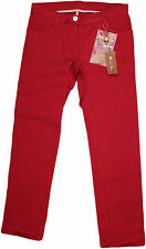 LORO PIANA GIRLS' RED FIVE POCKET JEANS-SIZE 8-MADE IN ITALY-RETAIL $495