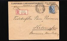 Finland 1923 Registered Tempere Law Office Oiva Sohlberg Cover 1y