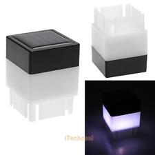 Solar Powered Fence Post Pool LED Square Light Outdoor Garden Yard Pathway Lamp