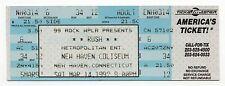 1992 Rush Roll the Bones Tour Full Unused Ticket New Haven Coliseum – 3/14/92
