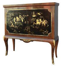 Bahut à porte palissandre style Louis XV laque du Japon