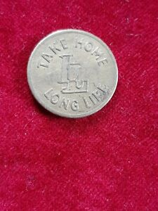 Take Home Long Life 5 Shillings In Trade Token Stamped 12550