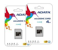 Lot of 2 ADATA 4GB Class 4 MicroSD Memory Card for Samsung Galaxy S 4 Note 3 II