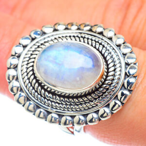Rainbow Moonstone 925 Sterling Silver Ring Size 7.5 Ana Co Jewelry R56965F