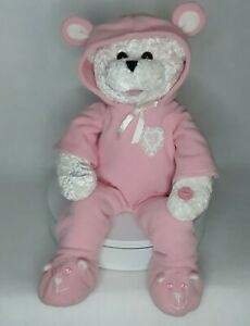 PBC Chantilly Lane Musical Animated Baby Girl Teddy Bear Sings Brahms Lullaby