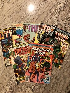 Bronze Age Lot Of 7- Marvel Fantastic Four Thor Iron Man Thing Two-In-One