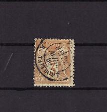 timbre France  Sage   3c  bistre sur jaune     num: 86    oblitéré