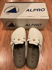 NIB ALPRO by Birkenstock 280 White Leather Shoes Slip On Sandals Size 43 US 10