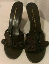 Robert Clergerie DRAGONFLY Wooden Wedges Shoes 7.5 US