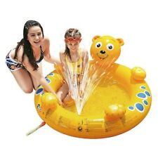 Bär Spray Pool 130x118x45 Kinderpool Planschbecken Schwimmbecken + Wassersprüher